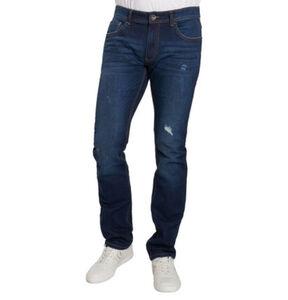 manguun Herren Jeans, Baumwolle, Used-Look