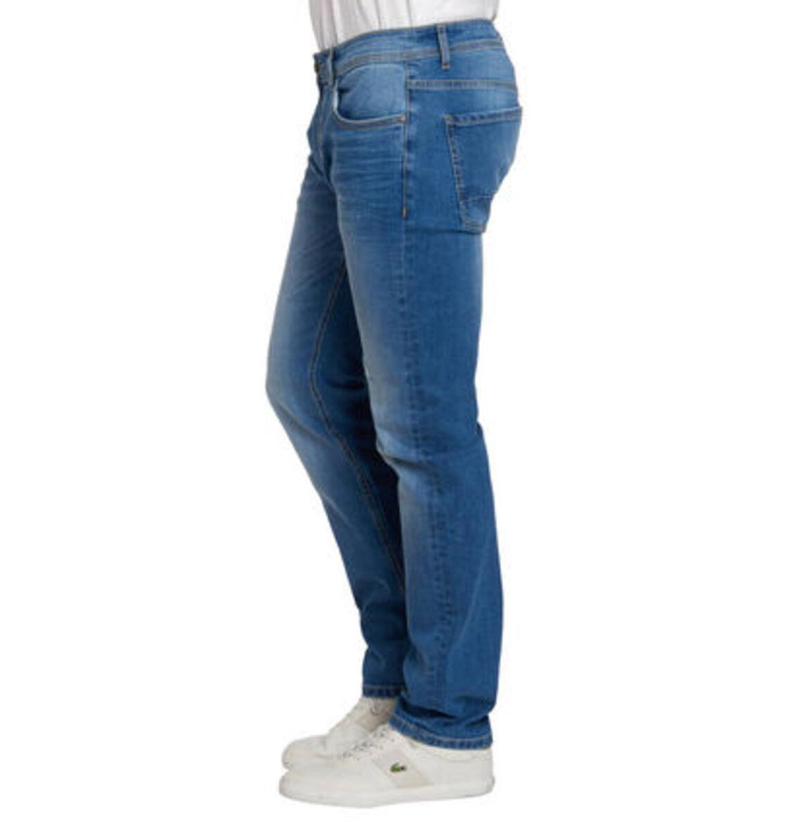 Bild 2 von manguun Herren Jeans, Slim Fit, Baumwolle, Destroyed Denim