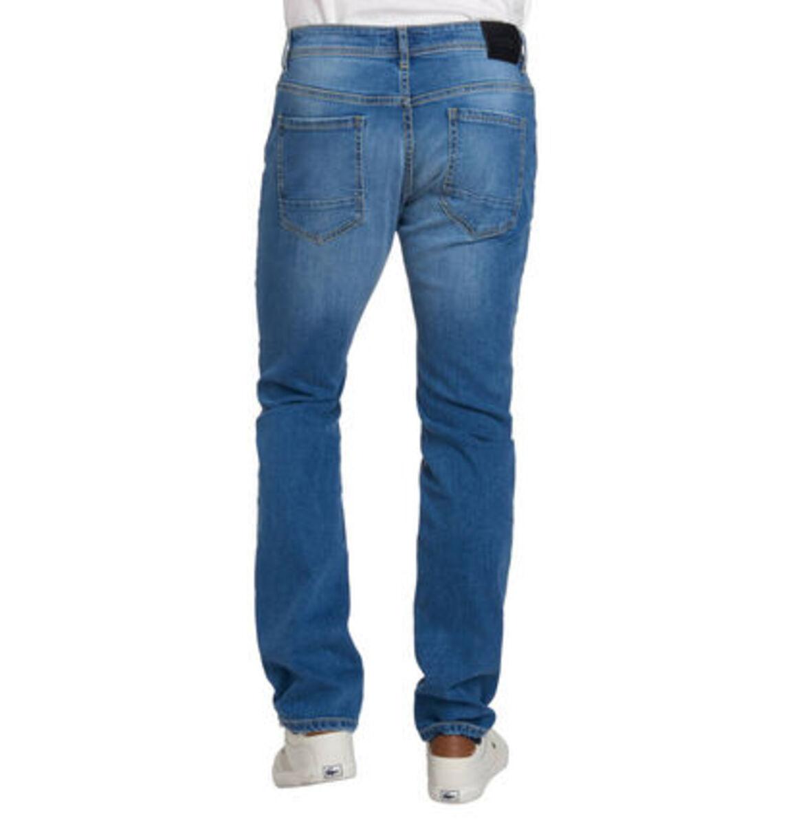 Bild 3 von manguun Herren Jeans, Slim Fit, Baumwolle, Destroyed Denim