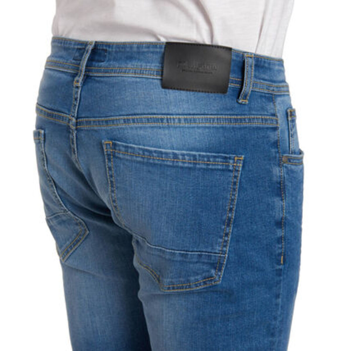 Bild 4 von manguun Herren Jeans, Slim Fit, Baumwolle, Destroyed Denim