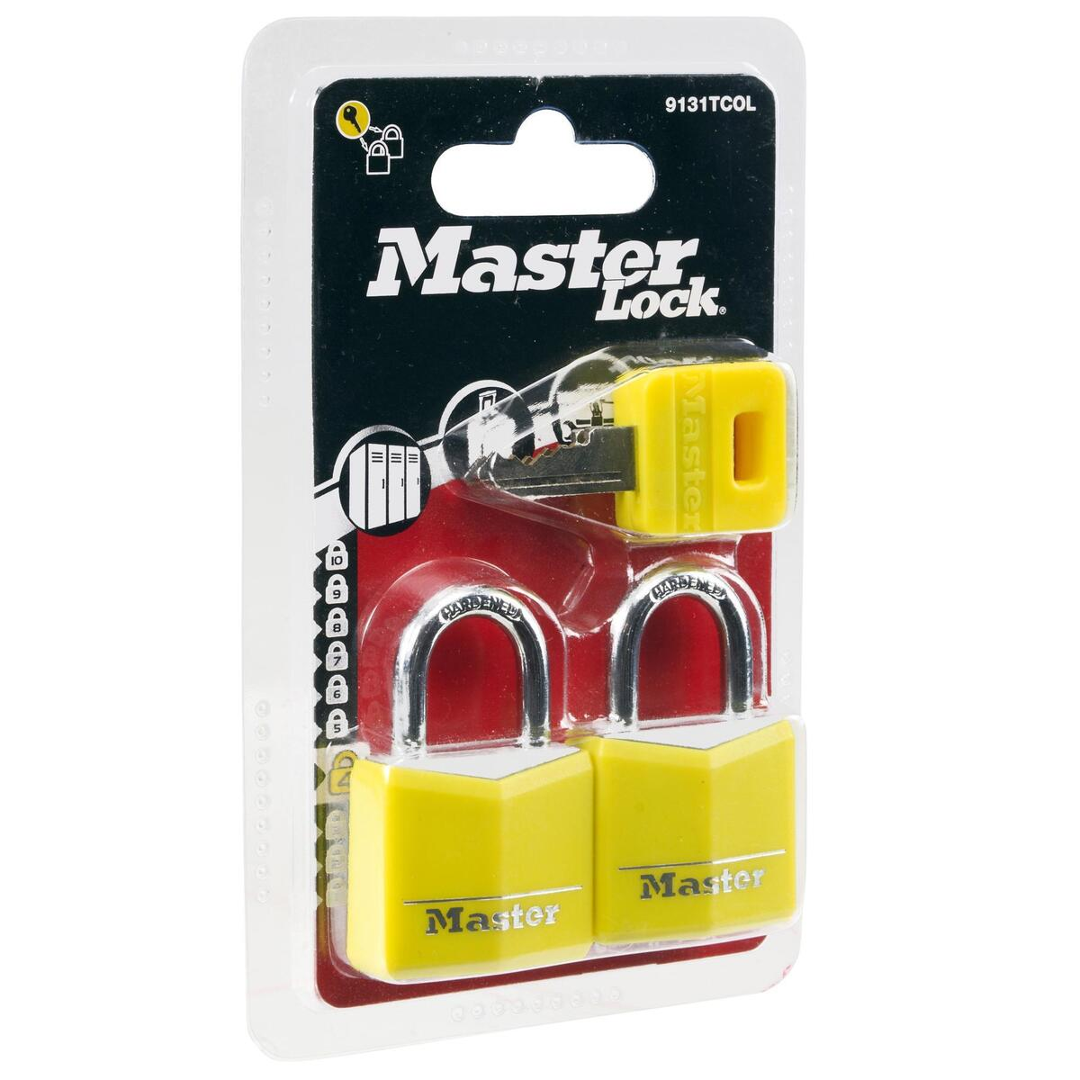 Bild 1 von 2 Gepäckschlösser + Schlüssel 30mm gelb