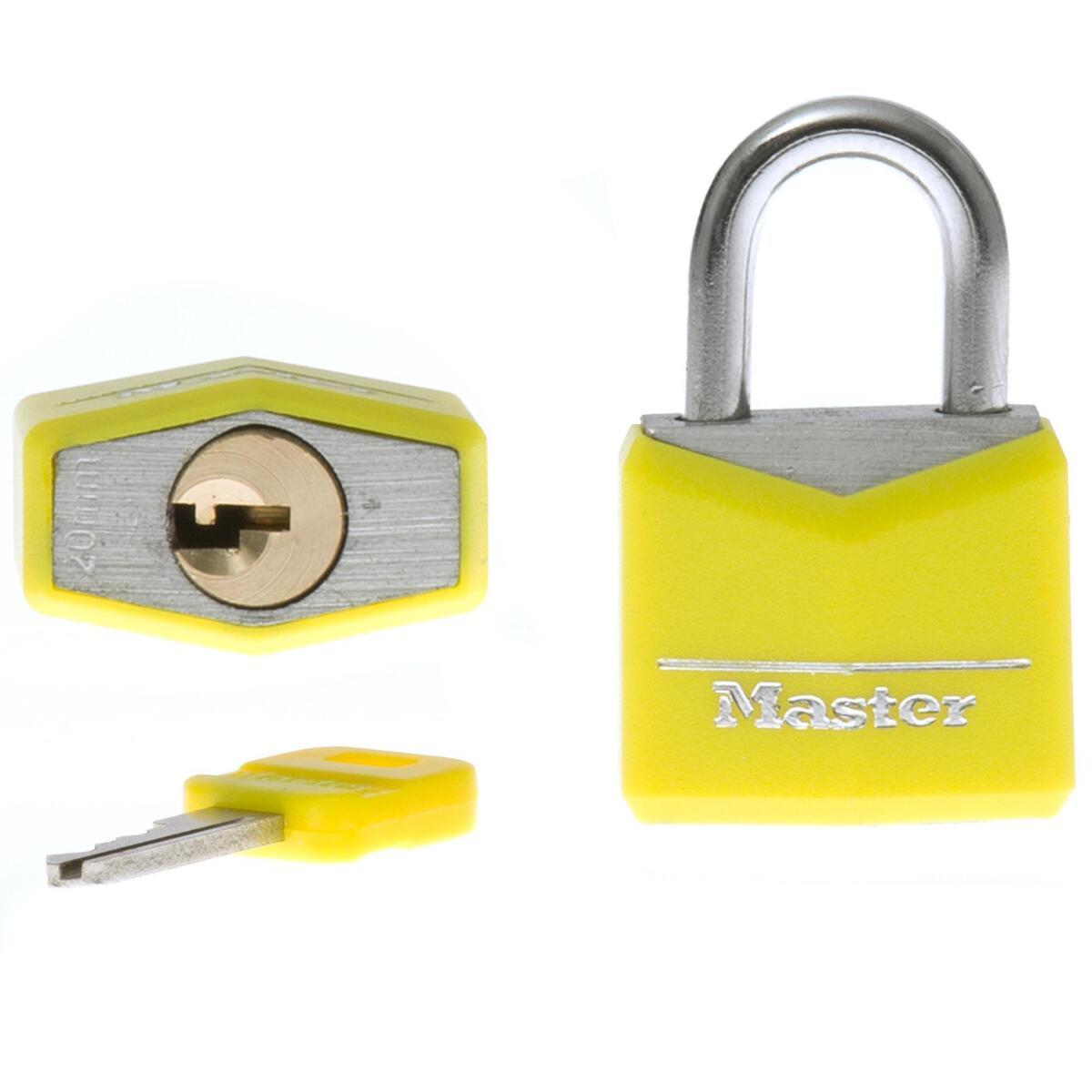 Bild 3 von 2 Gepäckschlösser + Schlüssel 30mm gelb