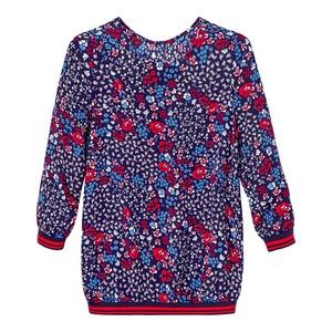 Damen-Bluse mit dekorativem Webband