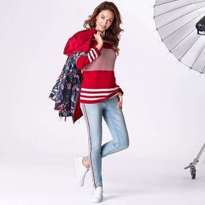 Damen-Jeans mit schickem Seitenband