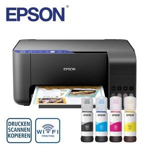 EcoTank ET-2711 - Nachfüllbarer Multifunktionsdrucker - Inkl. Tinte für den Druck von bis zu 8.100/6.500 S. in s/w bzw. Farbe - Wi-Fi & Wi-Fi Direct, mobiles Drucken, Randlos drucken bis 10x15 cm