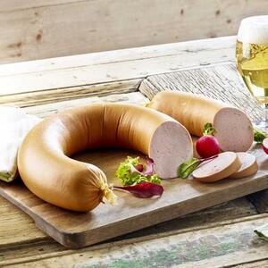 GS Schmitz Schinkenfleischwurst im Ring, mit oder ohne Knoblauch,  je 100 g