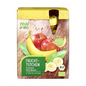 Fruchttütchen Apfel-Banane und Apfel-Erdbeere oder Ananas Stücke Natursüß je 4x100-g-Packung/jedes-370-ml-Glas
