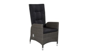 L.C. Wholesaler - Garten-Positionsstuhl Barcelona in Geflecht Polyrattan grey-mix