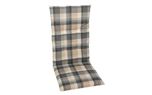 GO-DE - Garten-Sesselauflage in grau/beige kariert