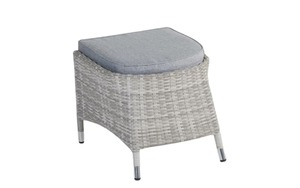L.C. Wholesaler - Garten-Hocker Nizza in white-grey