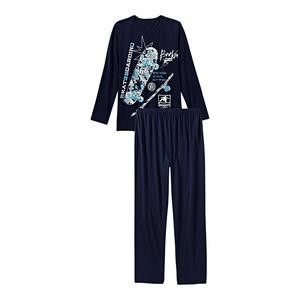 Jungen-Schlafanzug mit Skateboard-Frontaufdruck, 2-teilig