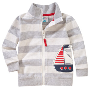 Baby Sweatjacke mit Segelschiff-Applikation