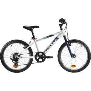 Mountainbike Kinderfahrrad 20 Zoll Rockrider ST 120 weiß/blau