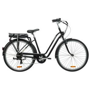 E-Bike City Bike 28 Zoll Elops 500E LF schwarz