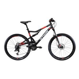 Mountainbike 27,5 Zoll Rockrider ST520S grau/rot