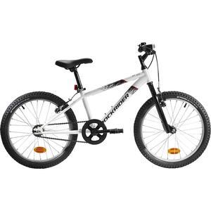 Mountainbike Kinderfahrrad 20 Zoll Rockrider ST100 weiß