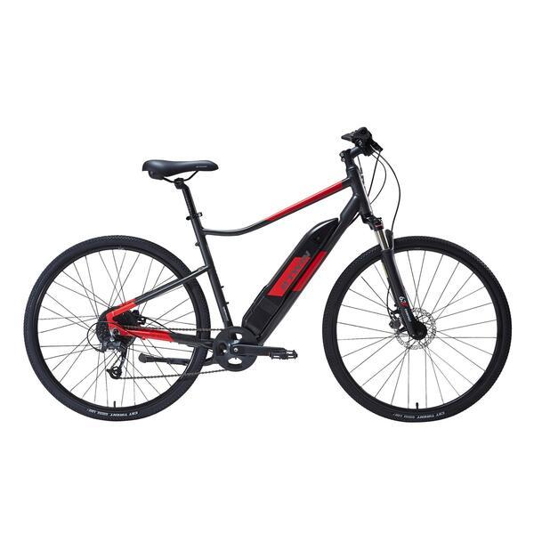 E-Bike Cross Bike 28 Zoll Riverside 500 E grau/rot
