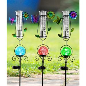 I-Glow LED-Solarstecker mit Regenmesser