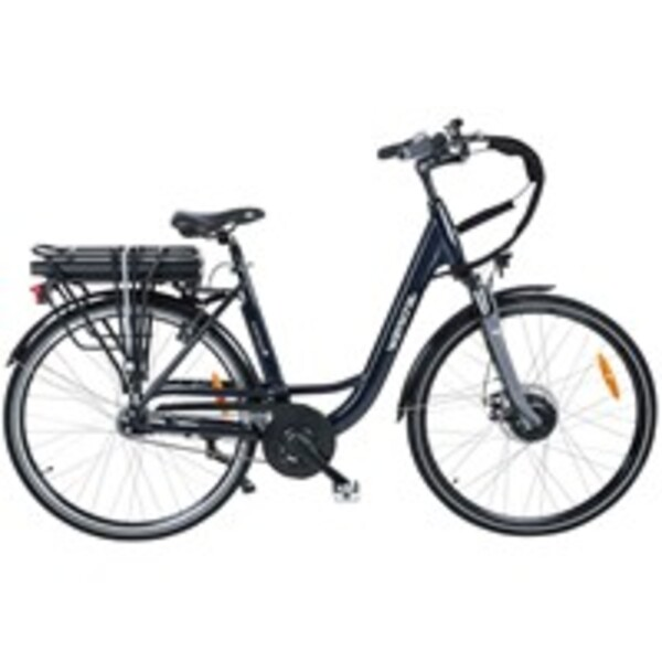 Wayscral E-Bike City 528 Start, 28 Zoll Pedelec, elektrisch unterstütztes Cityrad in Dunkelblau, bis zu 45 km Reichweite