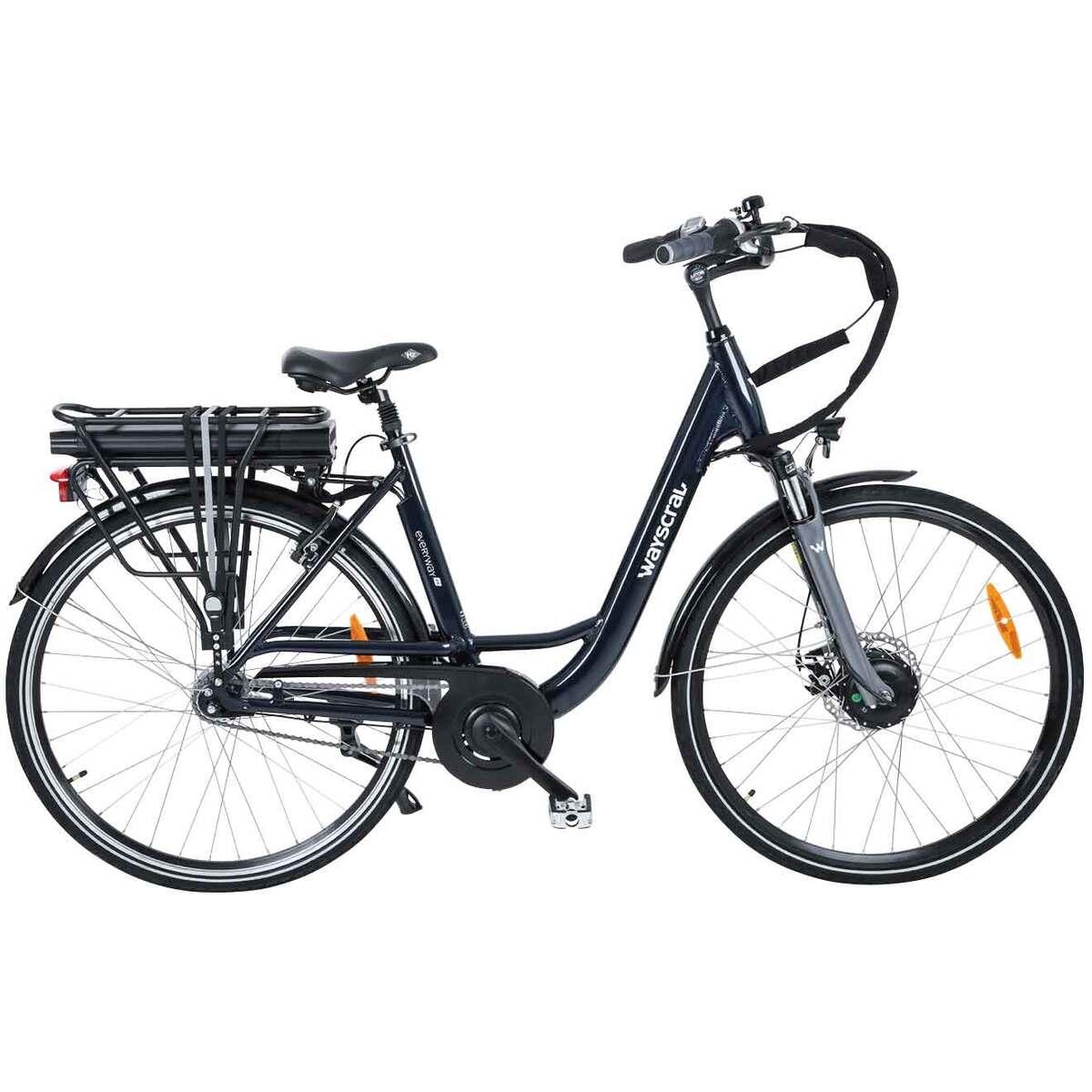 Bild 2 von Wayscral E-Bike City 528 Start, 28 Zoll Pedelec, elektrisch unterstütztes Cityrad in Dunkelblau, bis zu 45 km Reichweite