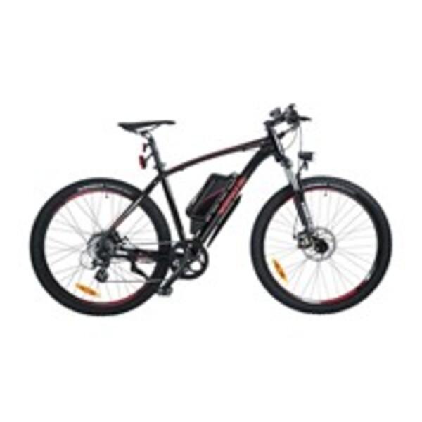 Wayscral E-Bike Sporty 645, 27,5 Zoll Pedelec, elektrisch unterstütztes Mountainbike in Schwarz/Rot, bis zu 45 km Reichweite