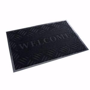 acerto® Schmutzfangmatte WELCOME schwarz 40x60cm