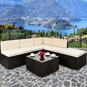 Deuba Rattan Lounge Medium braun