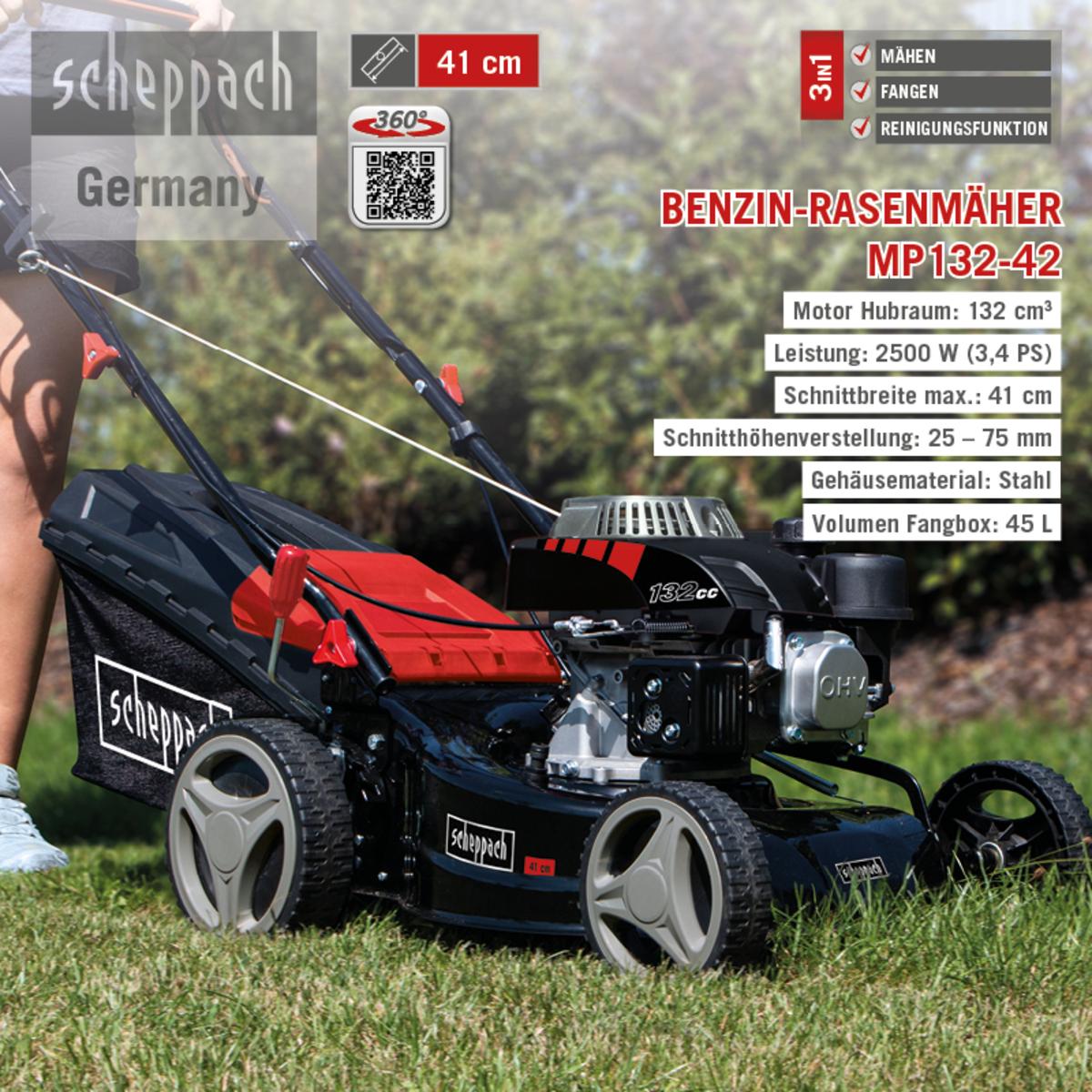 Bild 1 von Scheppach Benzin-Rasenmäher MP132-42