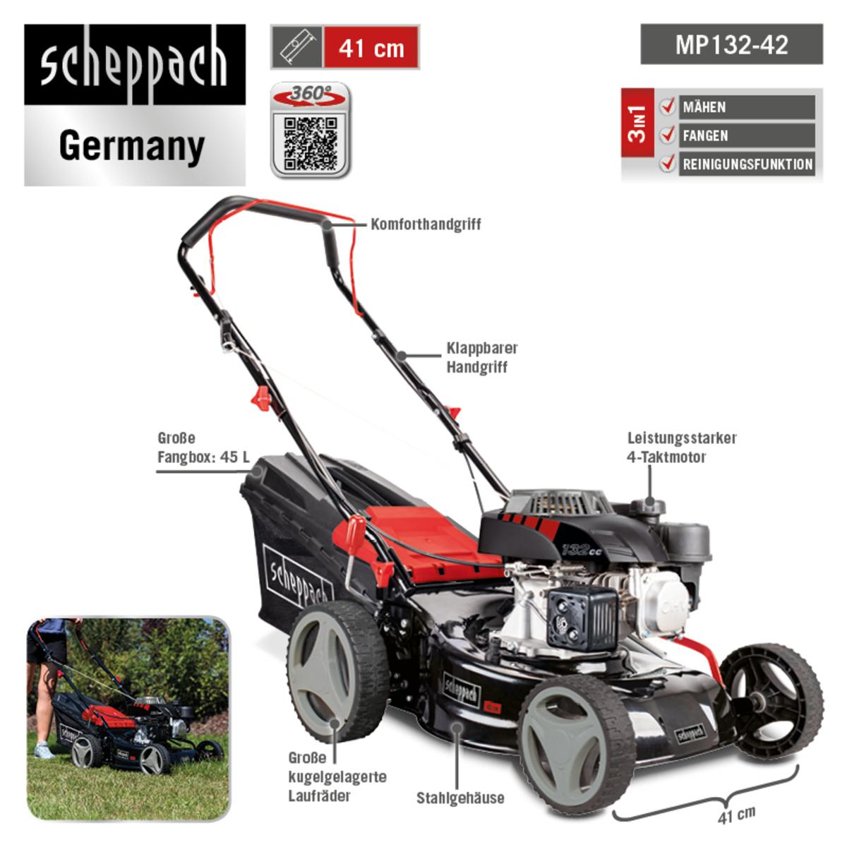 Bild 3 von Scheppach Benzin-Rasenmäher MP132-42