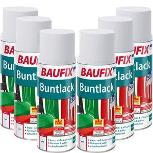 BAUFIX Buntlack Spray weiß 6er-Set