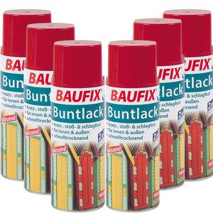 BAUFIX Buntlack Spray rot 6er-Set