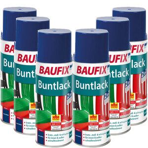 BAUFIX Buntlack Spray marineblau 6er-Set