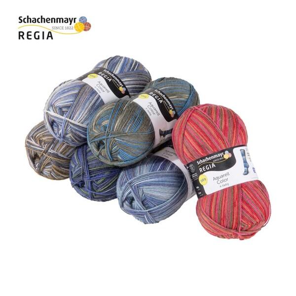 Strumpfwolle versch. Farben, 4-fädig, 100 g, 75 % Schurwolle/25 % Polyamid, Lauflänge ca. 420 m