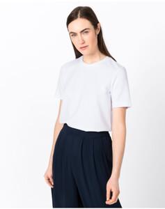Hallhuber T-Shirt aus Interlock-Jersey für Damen in weiß