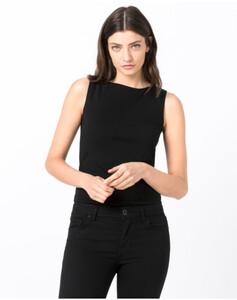 Hallhuber Basic-Top aus Bio-Baumwolle für Damen in schwarz