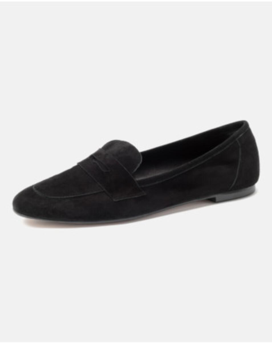 Bild 2 von Hallhuber Loafers aus Ziegenveloursleder für Damen in schwarz