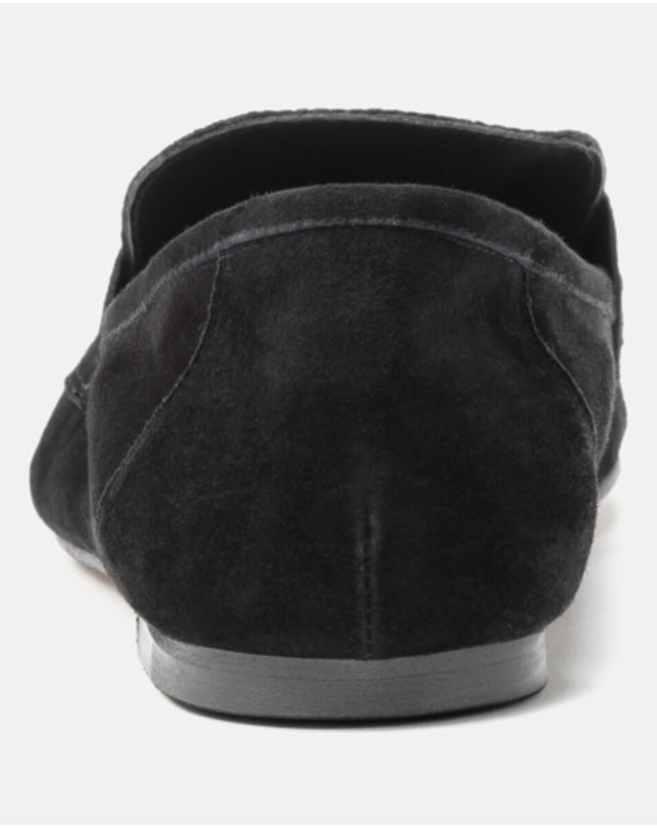 Bild 4 von Hallhuber Loafers aus Ziegenveloursleder für Damen in schwarz