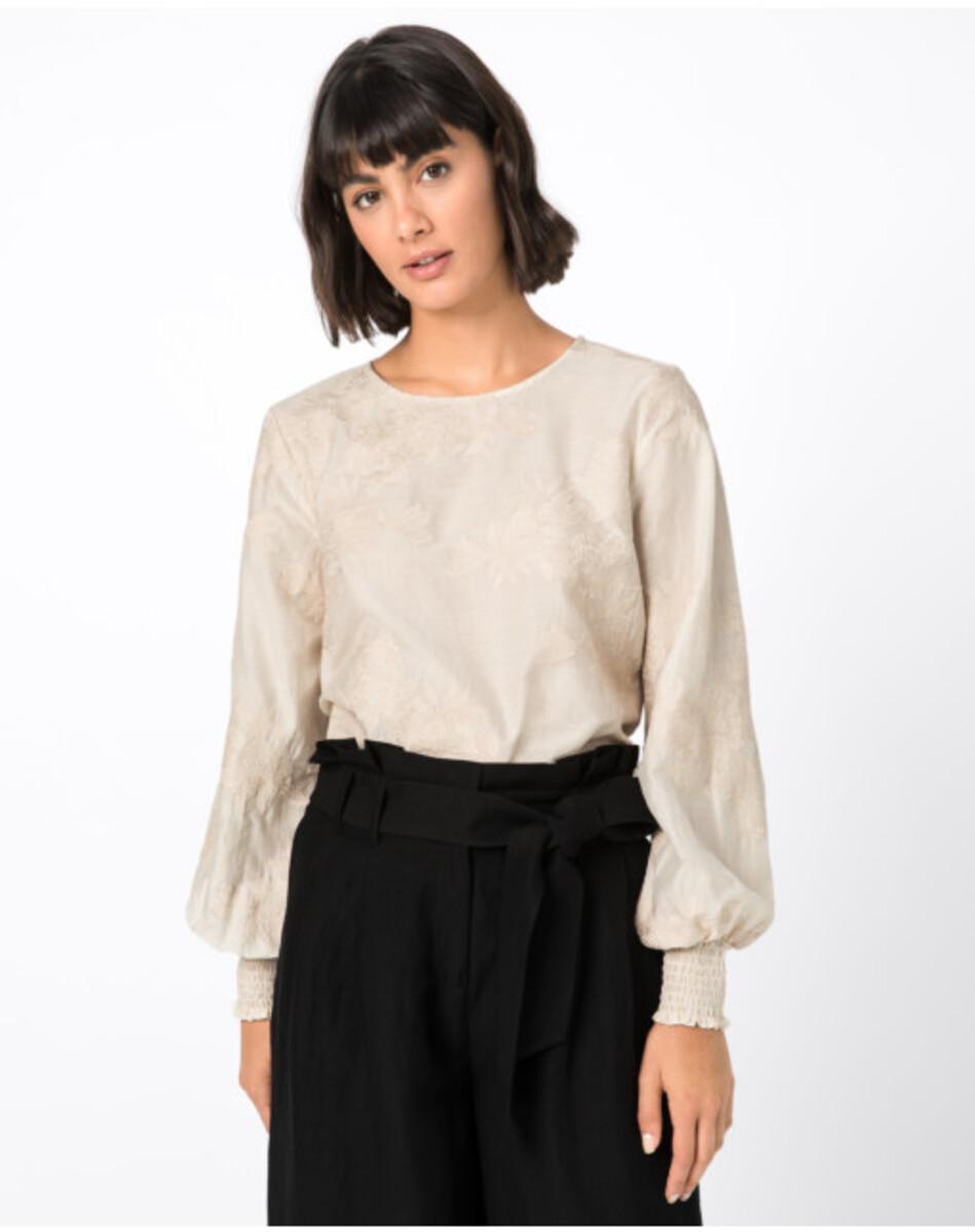 Bild 1 von Hallhuber Bluse mit Blumenstickerei für Damen in creme