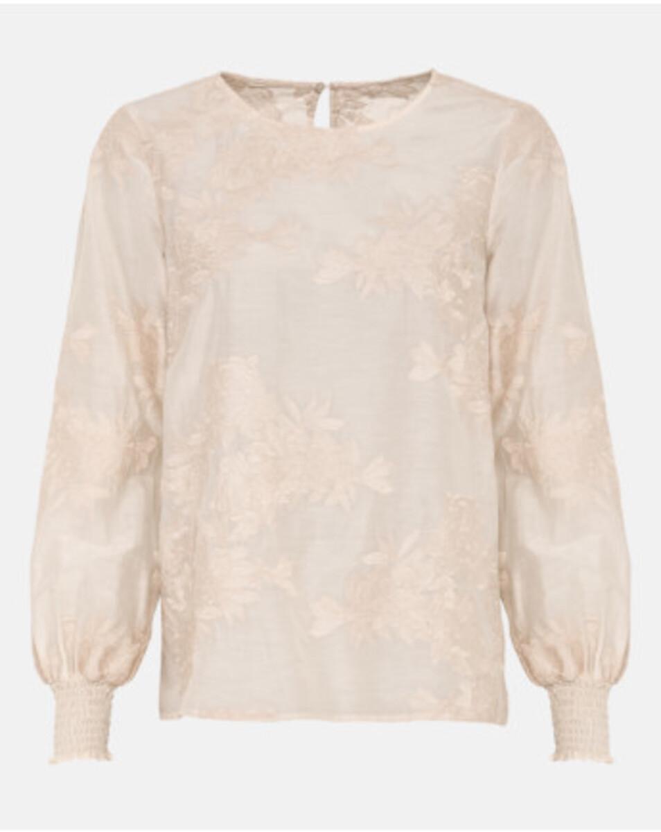 Bild 2 von Hallhuber Bluse mit Blumenstickerei für Damen in creme
