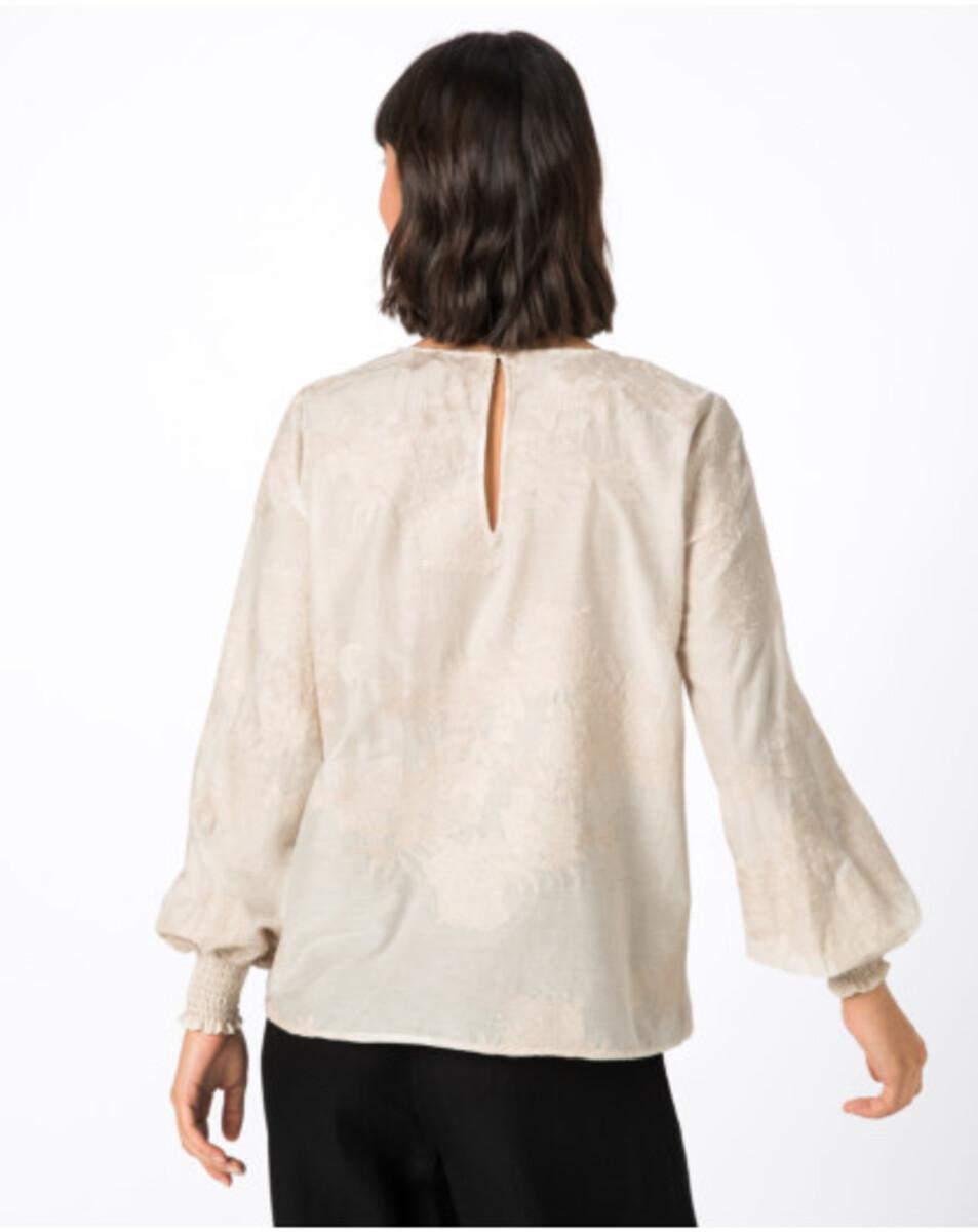 Bild 4 von Hallhuber Bluse mit Blumenstickerei für Damen in creme