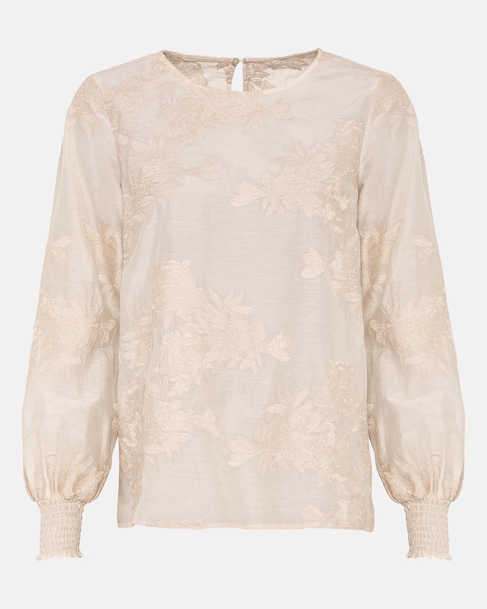 Bild 5 von Hallhuber Bluse mit Blumenstickerei für Damen in creme