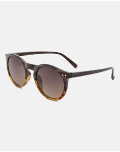 Hallhuber Runde Sonnenbrille in Horn-Optik für Damen Gr. One Size in braun