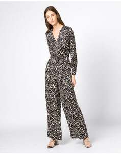 Hallhuber Jumpsuit mit Leopardenprint für Damen in multicolor