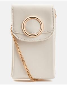 Hallhuber Smartphone-Umhängetasche für Damen Gr. One Size in creme