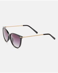 Hallhuber Sonnenbrille mit Bügeln in Ketten-Optik für Damen Gr. One Size in schwarz