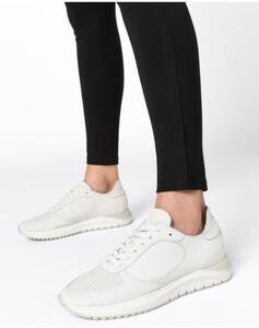 Hallhuber Leder-Sneakers für Damen in weiß