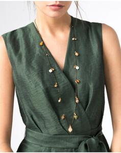 Hallhuber Filigrane Halskette mit echten Süßwasserperlen für Damen Gr. One Size in gold