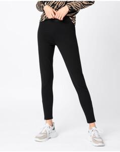 Hallhuber Jersey-Leggings mit Gummibund für Damen in schwarz