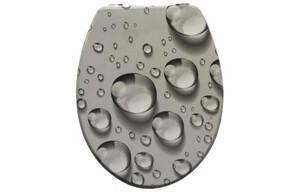 MDF-WC-Sitz Motiv Wassertropfen