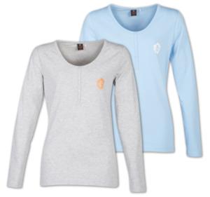 GIN TONIC Damen-Henley-Shirt, Langarm